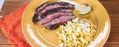 Create that delicious Mexican street corn at home & serve it up with a perfectly seared flank steak!