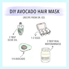 Looking for a DIY hair treatment? Try Dr. Oz's Avocado Hair Mask! | Want a vegan option? Dr. Mona Vand recommends swapping out the eggs and mayo for coconut cream!