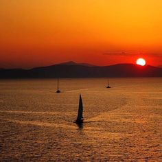 Incredible Colorful sunset , at Kythnos island (Κύθνος) Sandy beaches , wild beauty and traditional Cycladic style villages ... it's all you need !