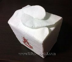 felt chinese take-out box