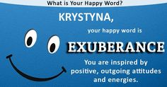 Name quiz/ Find out what is Your Happy Word!
