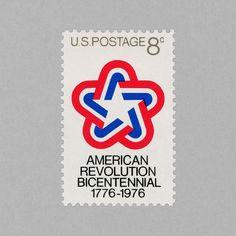 American Revolution Bicentennial 1776 – 1976. USA, 1976. Design: Ivan Chermayeff and Thomas Geismar http://grafiktrafik.tumblr.com