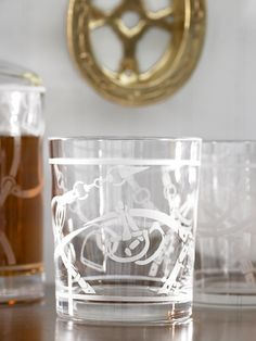 Ah, getting to be cocktail by the fire season again... Ralph Lauren equestrian lowball tumblers.