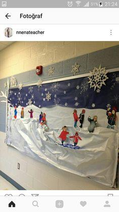 36 Ideas Teacher Door Decorations Winter Bulletin Boards For 2019 Winter Crafts For Kids, Winter Kids, Winter Art, Winter Theme, Winter Snow, Winter Preschool Crafts, Teacher Door Decorations, Christmas Door Decorations, Classroom Decor