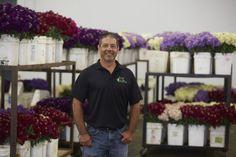 Joe Ortiz- Sales Manager at Joseph & Sons in Santa Paula, CA. Santa Paula, California Location, Family Flowers, Seeded Eucalyptus, Delphinium, Flower Farm, Joseph, Sons, Mens Tops