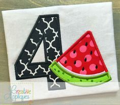 watermelon-number-applique $ REPIN THIS then click here: https://creativeappliques.com/