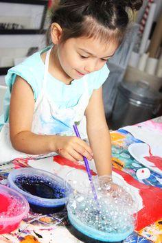 alisaburke: creating with a kid- bubble prints