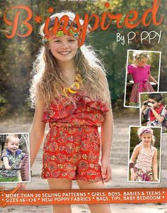 Made by Oranges - Zelfmaakmodebladen My Image, B-Trendy en Miss Doodle Sewing Patterns Girls, Sewing For Kids, Shops, My Images, Bunt, Fabric Design, Poppies, Kids Fashion, Spring Summer