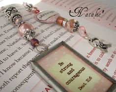 Designer Beaded Bookmark  Natalie by SassyBookBling on Etsy, $20.00