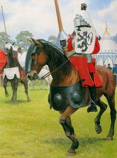 graham turner art | Tournament, 14th century - Graham Turner