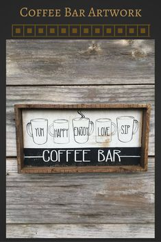 This is such a cute sign and I love it hanging above my coffee bar! #coffeebar #farmhousesign #farmhousedecor #ad
