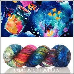FIREFLY PEARLESCENT WORSTED YARN by expression fiber arts