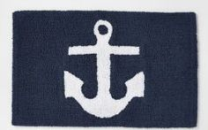 Nautical Bath Mat Anchor Bath Mat | West Elm