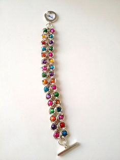 Chainmaille and Bead Bracelet by GemsbyGenualdi on Etsy, $50.00