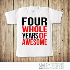 4th Birthday Shirt Boy, Fourth Birthday Shirt, Birthday Shirt 4, Boys 4th…