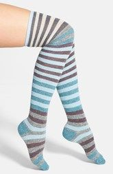 LEMON 'Playground' Stripe Over The Knee Socks