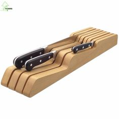 YI HONG Multifunctional Knife Holder Health Bamboo Knife Rest Easy To Cleaning Knife Rack Practical Kitchen Accessories A1173c #Affiliate