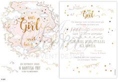 Προσκλητήριο βάπτισης για κορίτσια με θέμα our girl, annassecret Bullet Journal