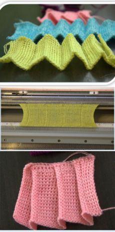 Машинное вязание. Вертикальные складки на основе ластика - Ярмарка Мастеров - ручная работа, handmade