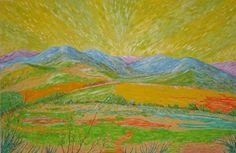 Colores (paisaje fauvista). Óleo sobre lienzo. Año 2008. 100x65cm  130€