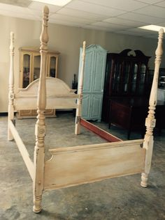 "This bed can be set up as a Queen or Full size. The height of the posts are 83"". What do you think? SOLD!! For $375"