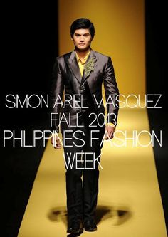 Male Fashion Trends: Simon Ariel Vasquez Fall/Winter 2013 - Filipinas Fashion Week