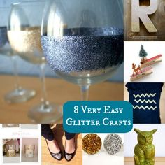 8 Easy Glitter Crafts