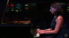 Georgian classical pianist Khatia Buniatishvili plays Frédéric Chopin's Ballade No. 4 in F minor Op. 52 during the 18th edition of the Verbier Festival.
