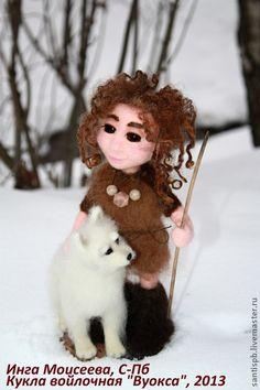 Человечки ручной работы. Ярмарка Мастеров - ручная работа Кукла войлочная валяная Вуокса. Handmade.