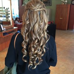 Half up half down style for prom or wedding with braids