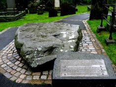 St. Patrick, St. Bridget, and St. Columb. Graves - all buried together to prevent Vikings from pillaging the graves - IRELAND