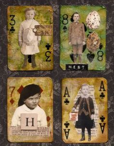 {Altered Playing Cards} — Sugar Lump Studios - Artwork by Nancy Maxwell James Playing Card Crafts, Playing Cards Art, Atc Cards, Card Tags, Altered Books, Altered Art, Art Trading Cards, Steampunk, Small Art