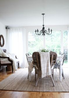 Adamas Jute Rug #westelm - Love this idea for your dining room rug ...