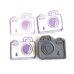 My Little Camera Rubber Stamp - Cling Rubber Stamp