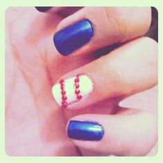 Gotta do my nails like this even if i dont go to a game!!!