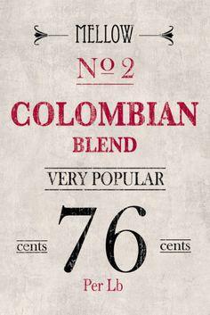 Colombian Coffee Art Print