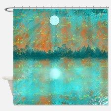 Land and Moon Shower Curtain for
