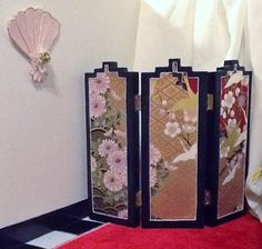 2 sided Oriental Screen and Decorative Fan by insidemydollhouse, $25.00