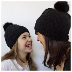 Laine 7-8 - tricoté en 6 Black Beanie, Knit Crochet, Winter Hats, Knitting, Sewing, Inspiration, Claire, Smoothie, Quilt