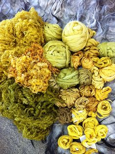 weld - natural dyeing by irit dulman. Gorgeous colors