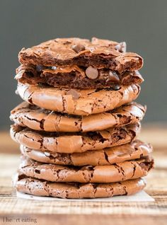 These cookies taste like the edge of a brownie but only have 68 calories per cookie!