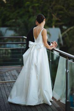 Leonie Bodice, Ruby Skirt - From Karen Willis Holmes . Perfect Wedding Dress, Boho Wedding Dress, Wedding Dress Styles, Designer Wedding Dresses, Bridal Dresses, Wedding Gowns, Casual Wedding, Elegant Wedding, Bride Gowns