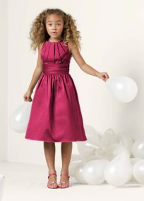 Junior Bridesmaids  Bella / Gabby / Carli / Andi  Davids Bridal FB3737  Red / Pink / Clover Green / Black / Bright Blue