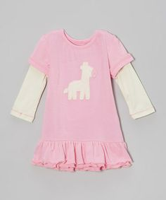 Take a look at this Rosie Giraffe A-Line Dress - Infant by Silkberry Baby on #zulily today!