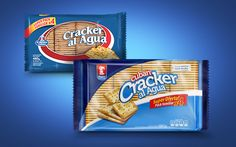 Before & after of branding & packaging design for Maestro Cubano crackers