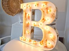 6 Rustic Whitewashed Marquee Ampersand Country Barn Wedding Chic Letters Lighted Wall or Tabletop /& Sign