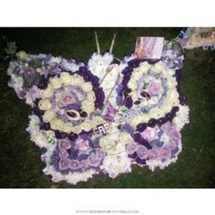 Funeral Condolences :: Funeral Arrangements :: Specialist Shapes :: Luxury butterfly on a stand -