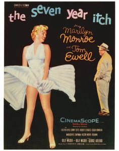 The Seven Year Itch Marilyn Monroe & Tom Ewell lobby card reprint Best Movie Posters, Classic Movie Posters, Classic Movies, Awesome Posters, Marilyn Monroe Movies, Marilyn Monroe Photos, Marylin Monroe, Marilyn Film, Richard Sherman