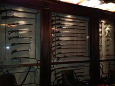 Gun room display cabinet Dream Home Design, My Dream Home, House Design, Antique Display Cabinets, Home Wine Cellars, Weapon Storage, Gun Rooms, Trophy Rooms, Hunting Cabin