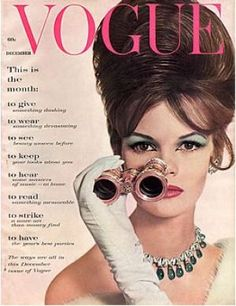 Vintage Vogue magazine covers - mylusciouslife.com - Vintage Vogue December 1960.jpg